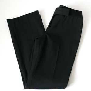 Ann Taylor Lindsay fit black wool lined dress pant